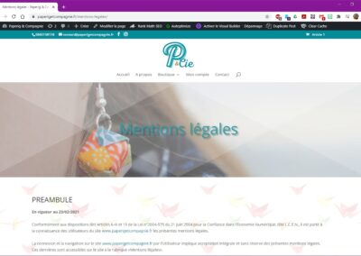 Paperig & Compagnie - Mentions légales