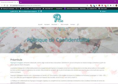Paperig & Compagnie - Politique de confidentialité