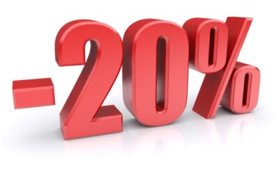 20% de réduction pour la rentrée !